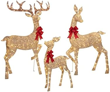 Everstar LED Christmas Los Angeles Mall Holiday Lighted Gold Max 85% OFF Mes Random Twinkling