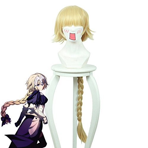 Telacos Fate/Grand Order FGO Jeanne d'Arc Ruler Cosplay Wig Cosplay Costume Yellow Hair