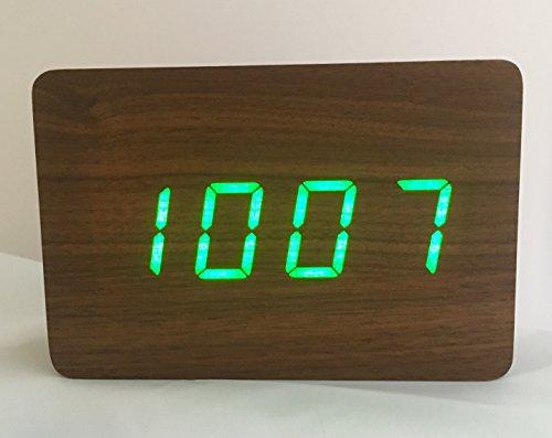 Excelsior Wereldwijd Beperkte 'Houten Blok' Wekker met LED