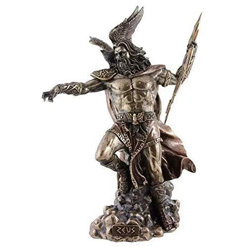 ZEUS Griechische Gott halten Thunderbolt Statue mit Adler