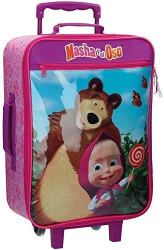 Masha e Orso in The Wood 4739051 Trolley da Cabina Rigido, 25 litri, Poliestere, Rosa