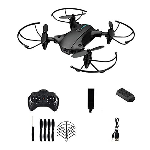 Drone 4K con fotocamera quad-rotore 15 minuti altezza fissa librando un pulsante decollo e atterraggio volo traiettoria 15 * 16 * 4cm nero