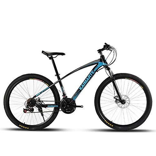 LUO Bicicletta Mountain Bike per adulti, Bicicletta a velocità variabile per studenti che assorbe gli urti, Bicicletta maschile e femminile in acciaio ad alto tenore di carbonio,Rosso,24 pollici 21 v