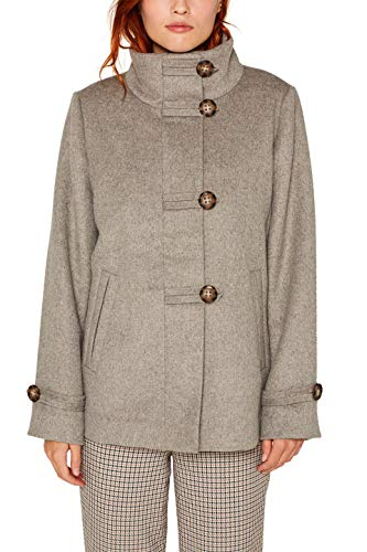 ESPRIT Collection Damen 089Eo1G008 Jacke, Grau (Light Gunmetal 5 049), X-Large (Herstellergröße: XL)