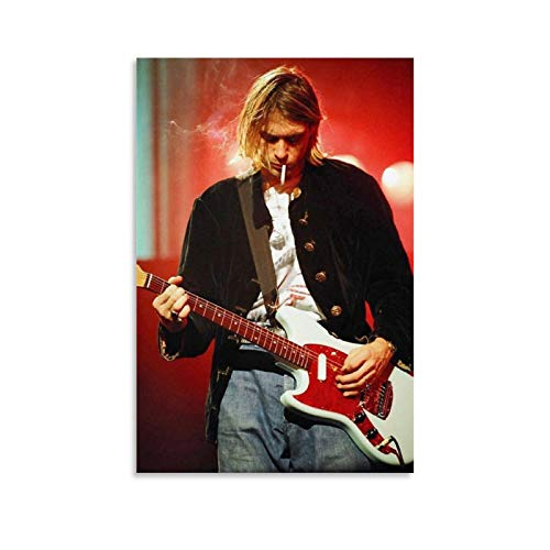 GUCII Kurt Cobain - Póster de lienzo con pantalla de bloqueo (30 x 45 cm)