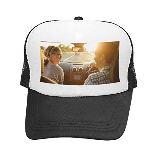 MoonLove Personalisierte Half Mesh Cap Baseball Kappe personalisierbar Baseballmütze Strand Mütze Trucker Hut Bedruckt mit Ihrem Wunschbild oder Wunschtext