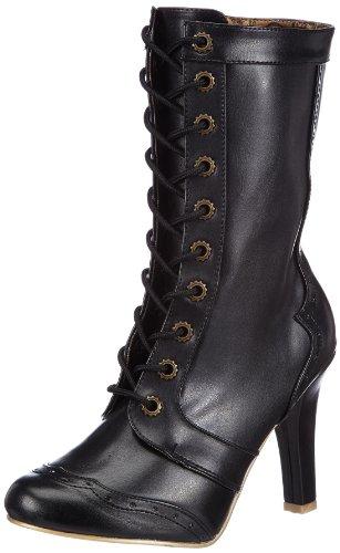 Demonia TESLA-102 Damen Stiefel, Schwarz (Blk Vegan Leather), EU 36 (UK 3) (US 6)