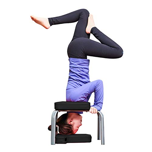New Elegdy Yoga Inversion Chair 434237cm Yoga Aids Workout Chair Headstand Stool Multifunctional Spo...