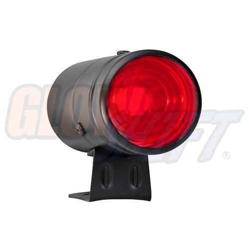 GlowShift Adjustable Shift Light - Black Housing & Red LED - for 4, 6, 8 Cylinder Gas Powered Engines
