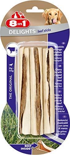 8in1 Delights Beef Sticks - Sticks à Mâcher garnis de bœuf pour Chien - 3 pièces
