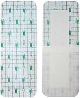 zinnor 10Pcs Film Dressing, Adhesive Wound Dressing,Waterproof Bath Posts, Self-Paste,3.9 x 9.8''(10 cm x 25 cm)