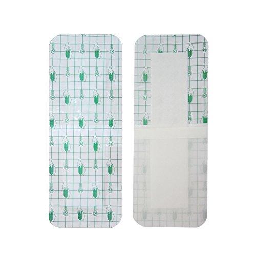 zinnor Adhesive Wound Dressing,Waterproof Bath Posts, Self-Paste Transparent Fixer Plaster Stretch Fixation Tape (10Pcs Wound Dressing 3.9 x 9.8''(10 cm x 25 cm))