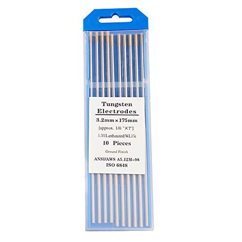 Varillas de tungsteno TIG de soldadura de tungsteno agujas de Lanthanum Electrodos de tungsteno 3/32 pulgadas cabeza de oro WL15