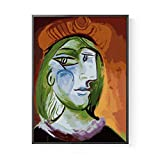 BVFRA Pintar por Numeros, Paint by Numbers Adults,DIY Paint by Numbers with Frame,Abstract Wind Face Self Portrait-16X20 Inch For Home Decoration Paint by Number,Frameless