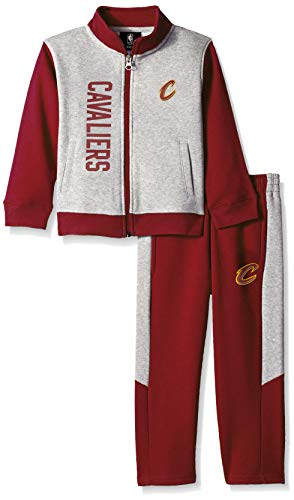 NBA by Outerstuff NBA Toddler Cleveland Cavaliers On The Line Jacket & Pants Fleece Set, Burgundy, 4T