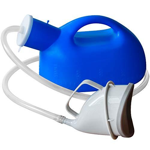 Urinflaschen für Frauen Urinale Pee Flasche Universal Portable 2000 ML mit weiblichem Adapter für Krankenhaus Camping Car Travel Urinale für alte Frauen Harninkontinenz