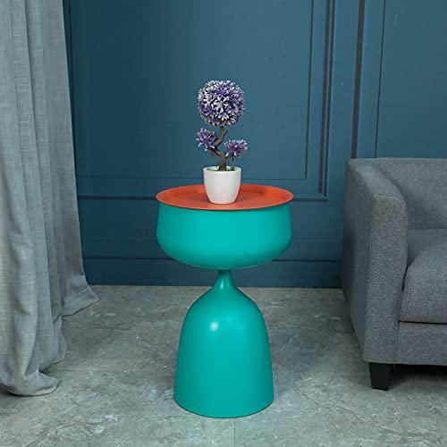 Mesa De Café De La Sala De Estar Redonda, Almacenamiento De Gran Capacidad con Tapa, Múltiples Macetas De Flores Multiusos 0602J(Color:B)