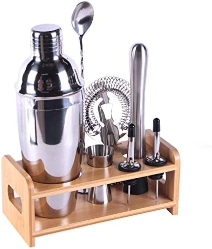 MAISON HUIS Bartender Kit 8 Piece Bar Tool Set with Stylish Bamboo Stand Perfect Home Bartending product image