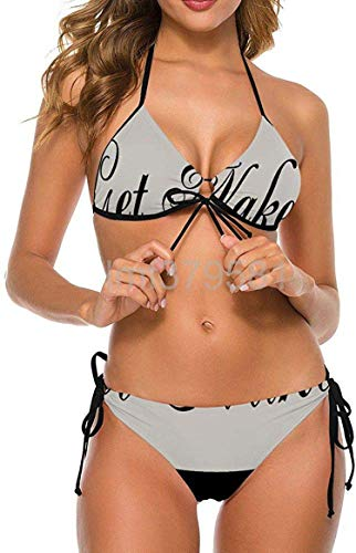 Get Naked Se Durable Yard Garden Flags Sexy Swimwear 2 Piece Bathing Suit Halter Bikini Set Swimsuit for Womens-X-Large