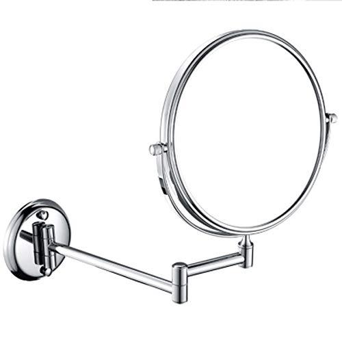LanzhiU Miroir Cosmétique Grossissant 3X, Miroir de Maquillage Rasage Double Face Miroir de Voyage Grossissant Miroir sur Pied Pivotant à 360° pour Salle de Bain,10X,8inch