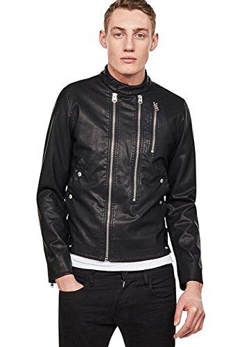 G-STAR RAW Herren Deline Ha Gpl Biker JKT Jacke, Schwarz (Black 990), X-Large