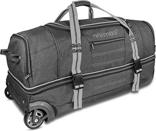 normani Reisetasche mit Rollen und großem Stauraum - mit Trolley-Funktion Farbe Grey Größe 120 Liter