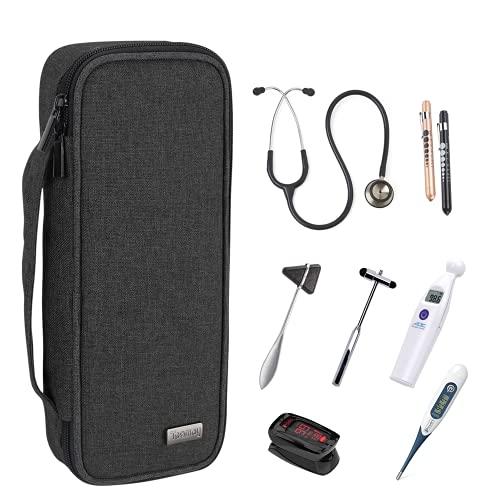 Teamoy custodia stetoscopio compatibile con 3M Littmann, MDF, ADC, stetoscopio Omron e altri accessori, Nero