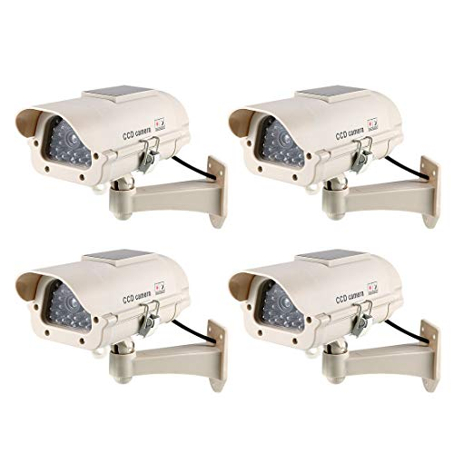 Great Features Of uxcell Fake Security Camera Solar Powered Dummy CCTV Surveillance System with Blin...