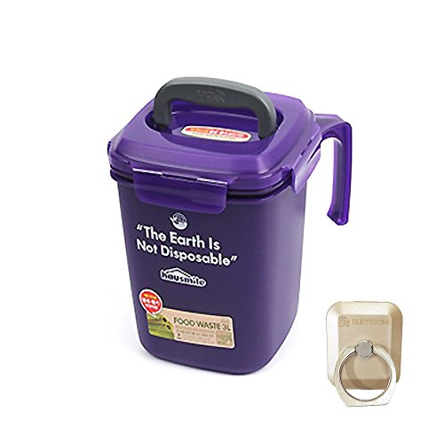 Lock&Lock Food Waste Bin 3L Cestino per rifiuti alimentari (Purple)