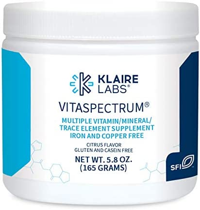 Klaire Labs VitaSpectrum Powder for Kids - Daily Children's Multivitamin/Mineral with 23 Essential Nutrients - Citrus Flavor - No Copper, Iron, Gluten or Casein (30 Servings, 165 Grams)