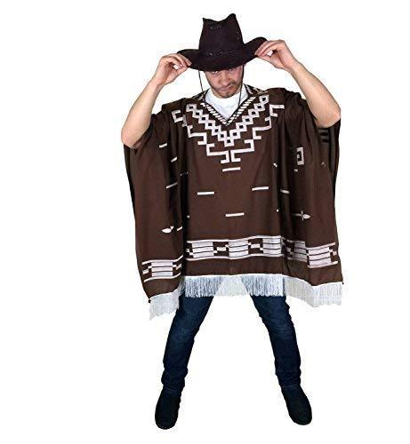 Cowboy Wild West Mexican Poncho Herren Kostüm - Einheitsgrösse