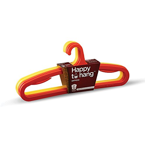 Happy To Hang Officio Polypropylene Hanger, Yellow and Orange