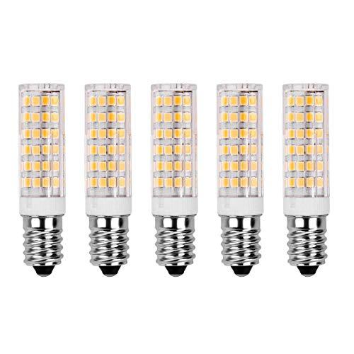 7W E14 LED Glühlampe - SanGlory 5 Stück E14 LED Leuchtmittel 520LM Warmweiß 3000K,60W Halogenlampen Ersatz,360° Abstrahlwinkel 75 X 2835 SMD LED Lamp E14 AC 220-240V (5er Pack)