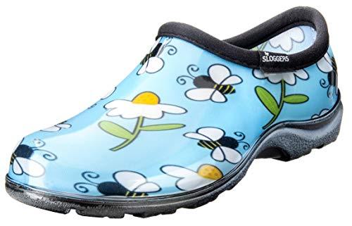 Sloggers 5120BEEBL09 Waterproof Comfort Shoe, 9, Lt Blue Bee Print