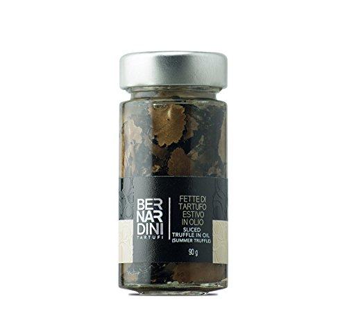 Tranches de Truffes Noires | Truffe d'été (Tuber aestivum Vitt.) à l'huile 90g - Bernardini Tartufi