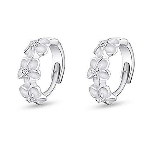 Silver Shoppee 'Blossoming Hope' Sterling Silver Earrings for Kids, Girls and Women (SSER1410)