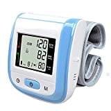 Wrist Bracelet Digital Blood Pressure Monitor Meter, Automatic Sphygmomanometer Hemomanometer Pulsometer Smart Fitness Wristband Home Use Gift,A