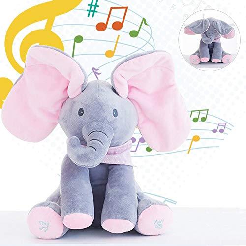 J-MWJ Música eléctrica de escondite y búsqueda de Elefantes con Juguetes de Peluche J-MWJ ( Color : A6 30cm )