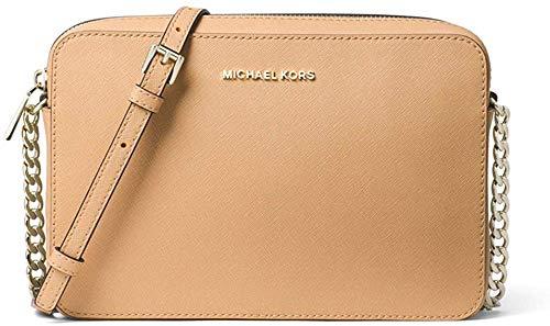 """100% Saffiano Leather 9.5""""W X 6.25""""H X 2""""D Adjustable Strap: 22.5""""-25"""" Interior Details: Back Slip Pocket, Front Slip Pocket Zip Fastening"""