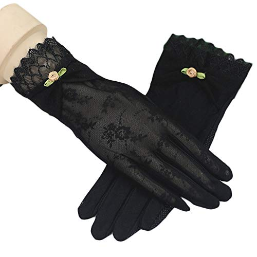 Rekaf Primavera otoño protector solar guantes damas guantes delgados verano conduciendo antideslizante pantalla táctil guantes encaje ciclista estiramiento hielo sombrilla sombrero manopla guión cicli