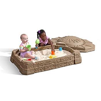 Step2 Naturally Playful Sandbox II with Bonus Sand Tools Tan