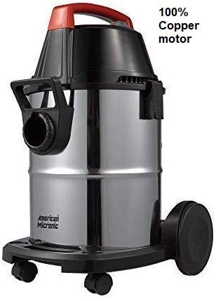 American MICRONIC AMI-VCD21-1600WDx- 21 Litre Stainless Steel Wet & Dry Vacuum Cleaner with Blower,...