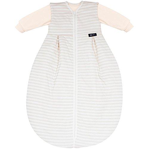 Alvi Baby Kombi-Schlafsack 70 cm, Design:Blockstreifen beige 117-6