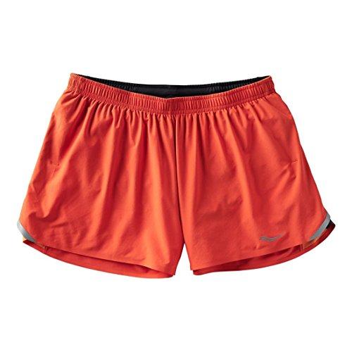 Saucony - Pantaloncini da Uomo Endorphin Split, Uomo, Pantaloncini, SA81183-TNGCRB, Rosso, S