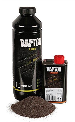 UPOL RAPTOR schwarz Pick Up Transportflächen Fahrzeug Beschichtung schwarz 948ml inkl. Härter + Antirutschzusatz