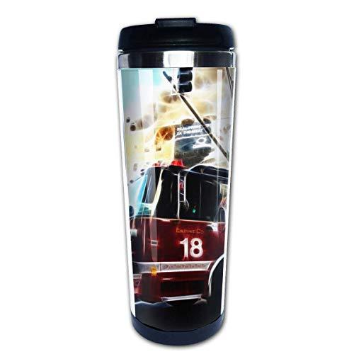 Taza de café de viaje Camión de bomberos Taza de café con aislamiento de acero inoxidable Botella de agua deportiva 13.5 oz (400 ml) MUG-3704