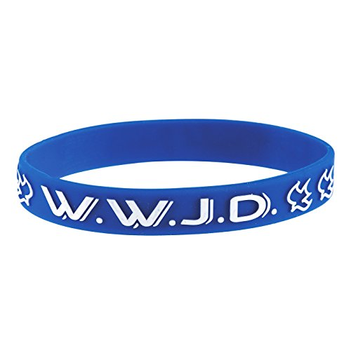 Christliche Geschenkideen °*1167 Armband Taube WWJD What Would Jesus do? (blau)