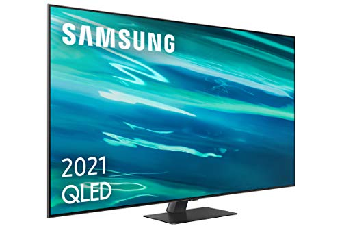 Samsung QLED 4K 2021 65Q80A - Smart TV de 65' con Resolución 4K UHD, Procesador QLED 4K con Inteligencia Artificial, Quantum HDR10+, Direct Full Array, Motion Xcelerator Turbo+, OTS y Alexa Integrada