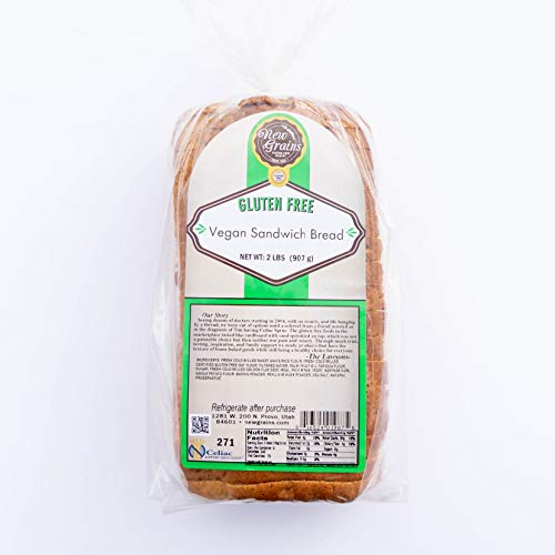Egg Dairy Gluten Free Vegan New Grains Whole Grain Sandwich Bread