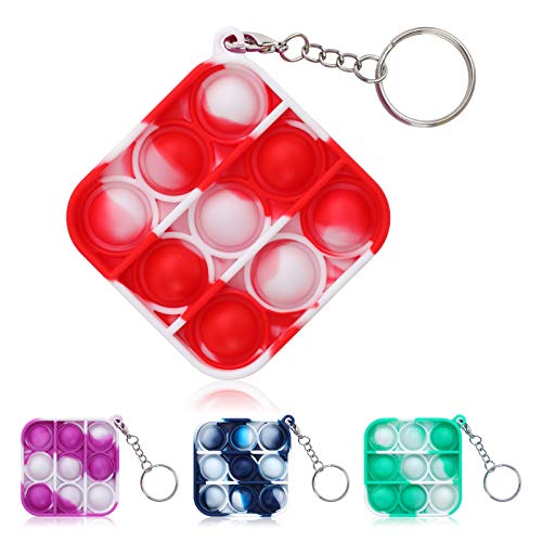 MichPong Mini Push pop-up Bubble Gadgets Sensory Toys, Mini Gadgets Toys, Gadgets Toys for Children and Adults, Simple dimple Gadgets Bags, (White-red)